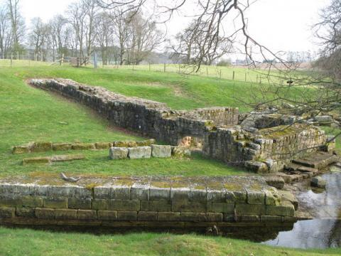 Hadrian's Wall and Chesters bridge abutment