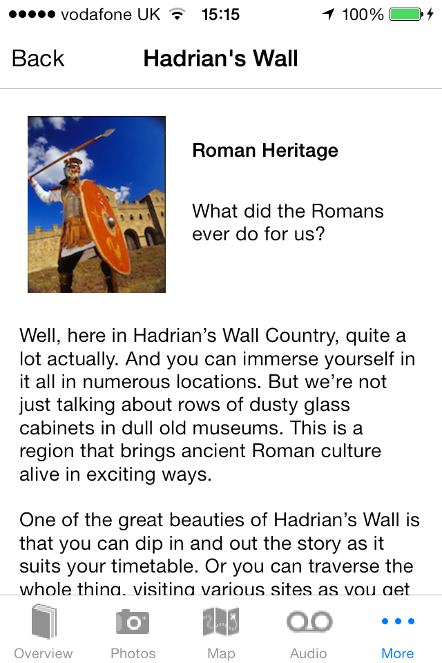 Hadrian's Wall App Further Reading